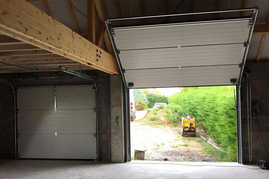 installation portes de garage automatisées