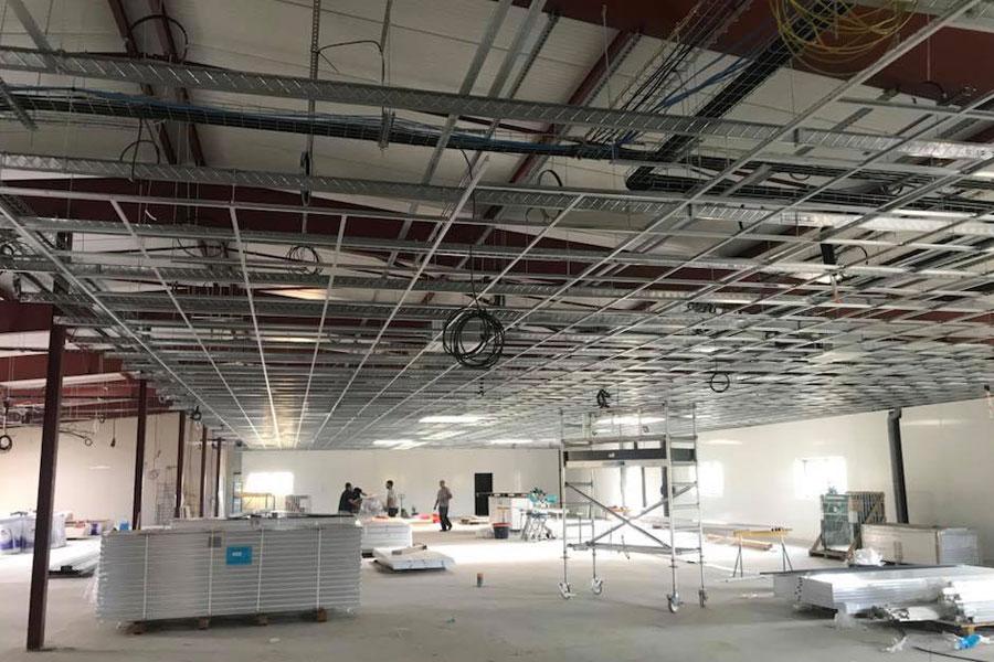 Création du réseau électrique d'un bâtiment industriel en construction